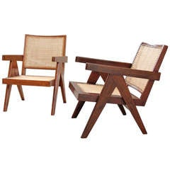 Pair of Pierre Jeanneret Lounge Chairs