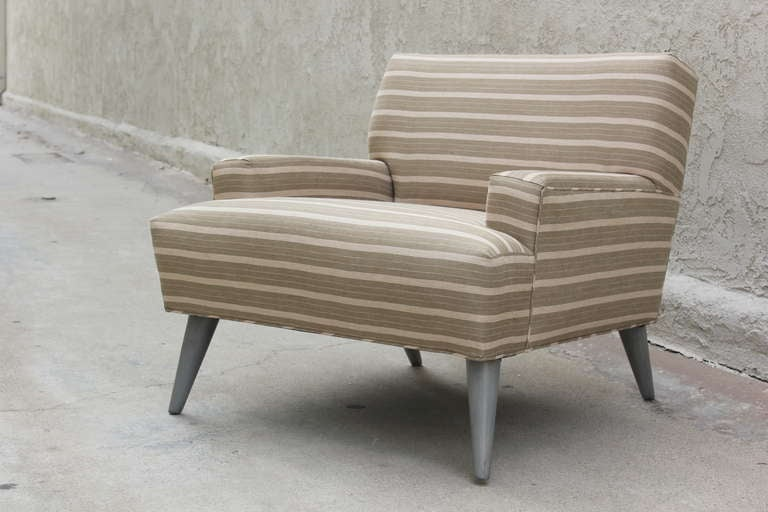 Pair of  Linen  Club Chairs 2