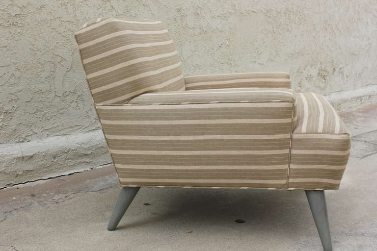 Pair of  Linen  Club Chairs 3