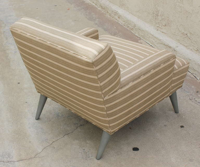 Pair of  Linen  Club Chairs 4