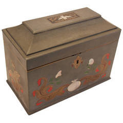 Pewter Tea Caddy Box