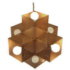 Large Perforated X Chandelier