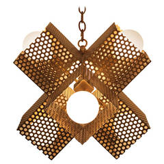 Small Perforated X Chandelier