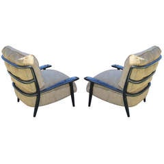 Pair of Custom Paul Laszlo Lounge Chairs