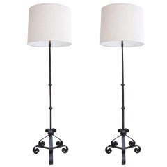Pair Iron Floor Lamps