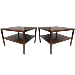 Pair of Large Walnut End Tables by Kittinger