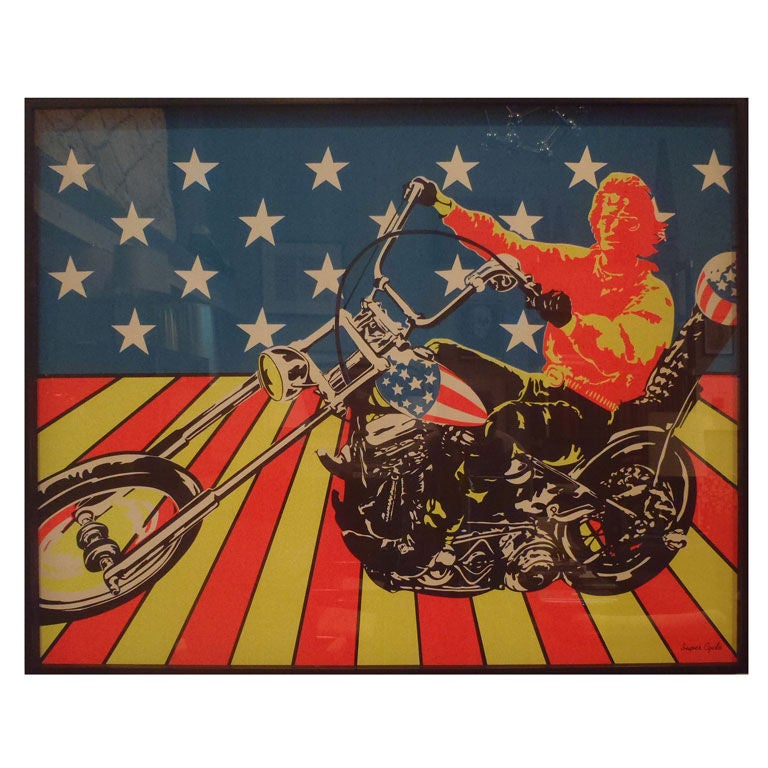 Framed Vintage Bootleg Easy Rider Poster At 1Stdibs-2481
