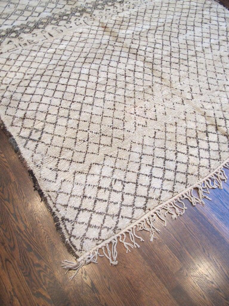 Moroccan Vintage Beni Ourain Carpet