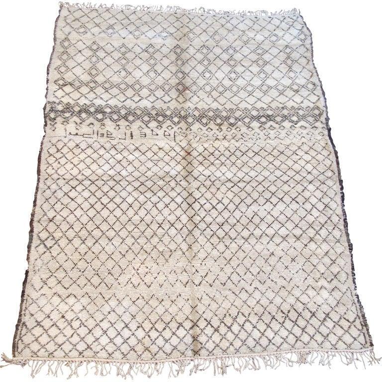 Vintage Beni Ourain Carpet