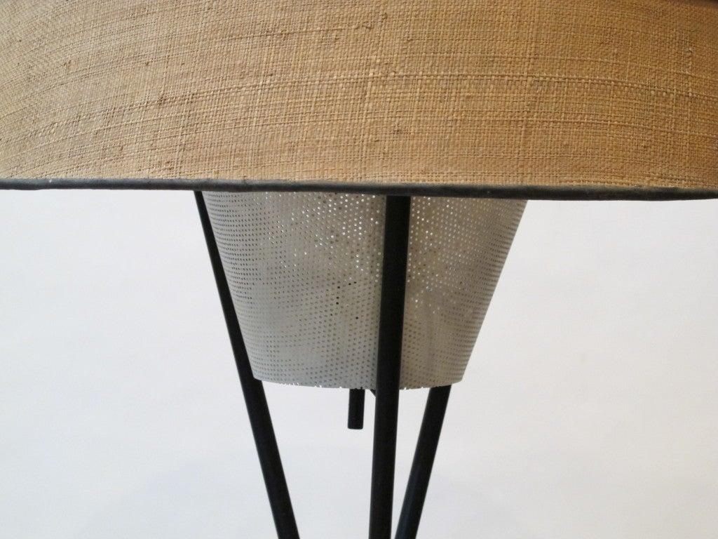 Steel Tripod Floor Lamp At 1stdibs
