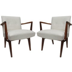 Pair of Armchairs in the Manner of Jens Risom