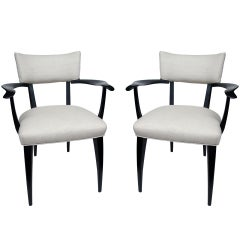 Pair of Italian Armchairs in the Manner of Ico Parisi