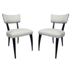 Pair Italian Side Chairs in the Manner of Ico Parisi