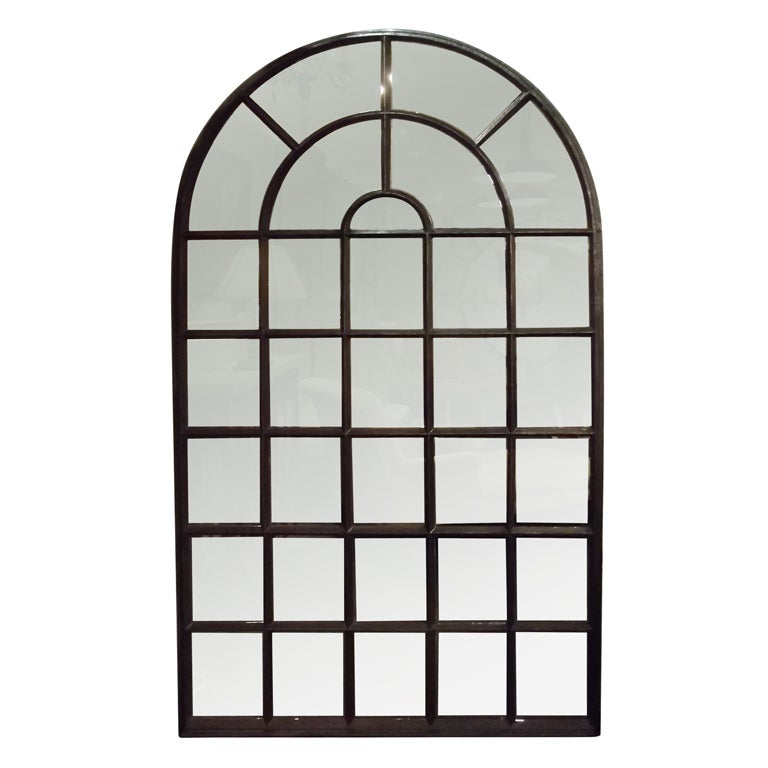 Cast iron palladian window mirror at 1stdibs for Full length window mirror