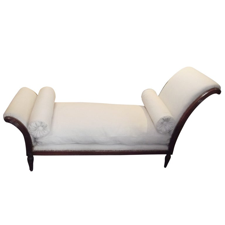 Louis phillipe style chaise longue at 1stdibs for 1 zitsbank met chaise longue