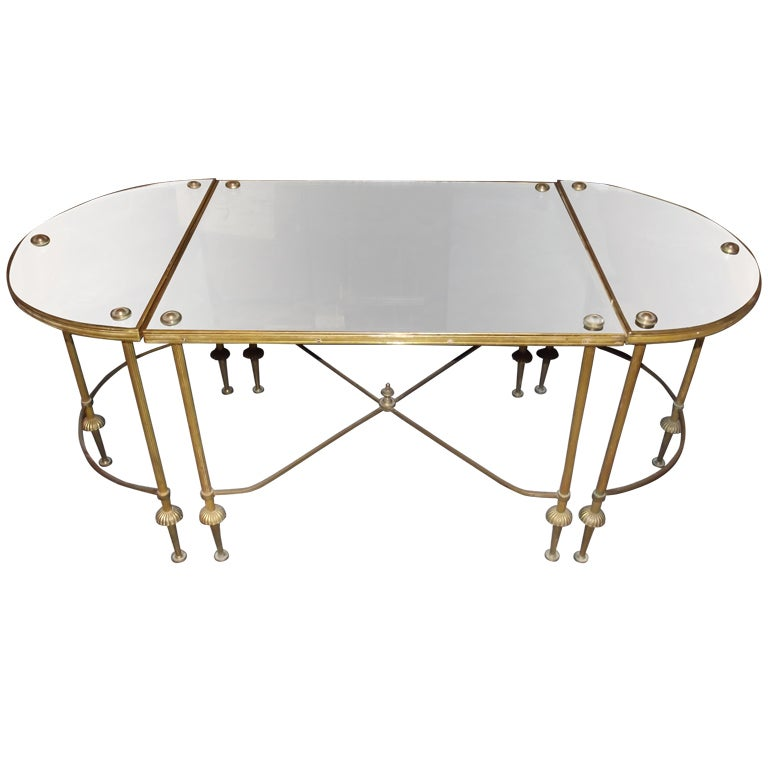 Distressed Mirrored Coffee Table Table