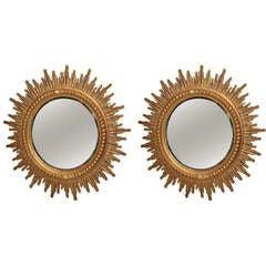 Two 1970-1980 Sunburst Mirrors