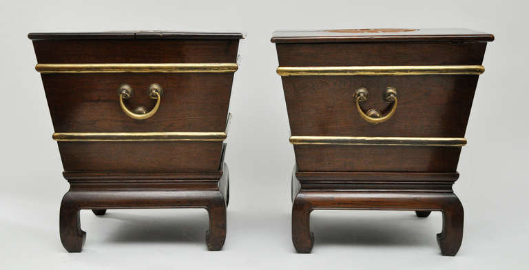 Mid-20th Century Pair of Midcentury Wine Coolers/Tables by George Zee For Sale