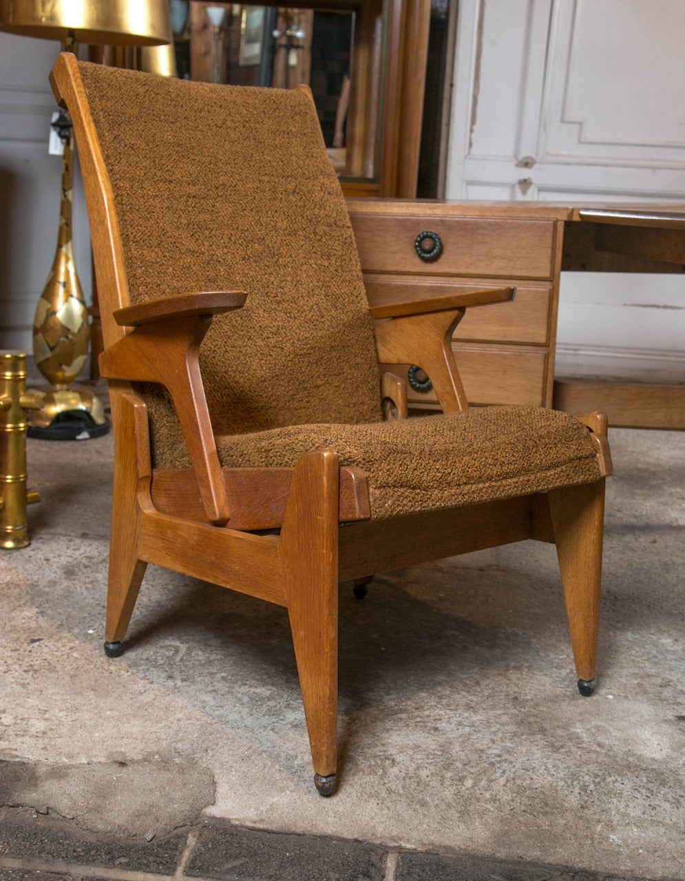 French Guillerme et Chambron Desk and Chair For Sale