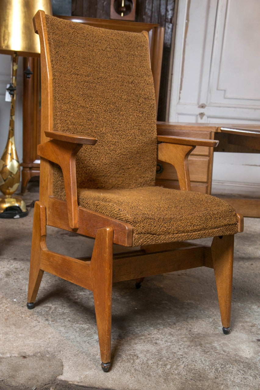 Guillerme et Chambron Desk and Chair In Excellent Condition For Sale In Stamford, CT