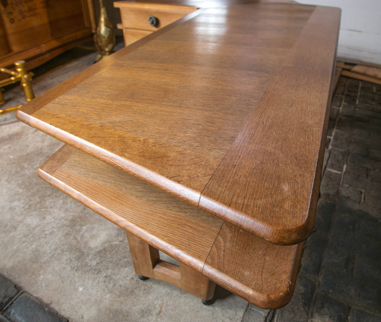 Guillerme et Chambron Desk and Chair For Sale 5