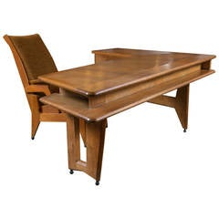 Guillerme et Chambron Desk and Chair