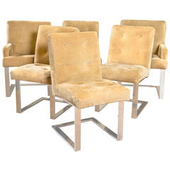 Set of Six Paul Evans for Directional Dining Chairs