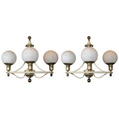 Pair of Mod 1960s French Sconces