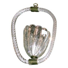Barovier Murano, Venetian Glass Hanging Light