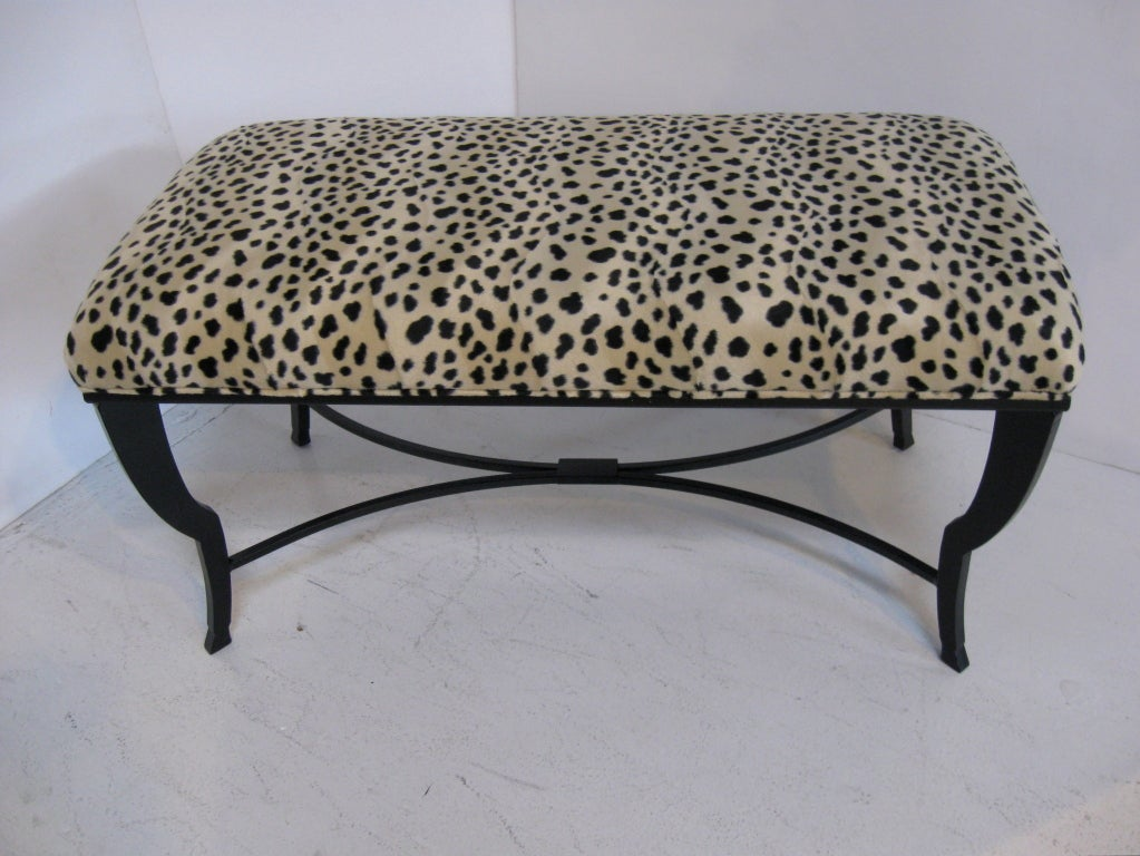 Wrought Iron Bench Stool At 1stdibs