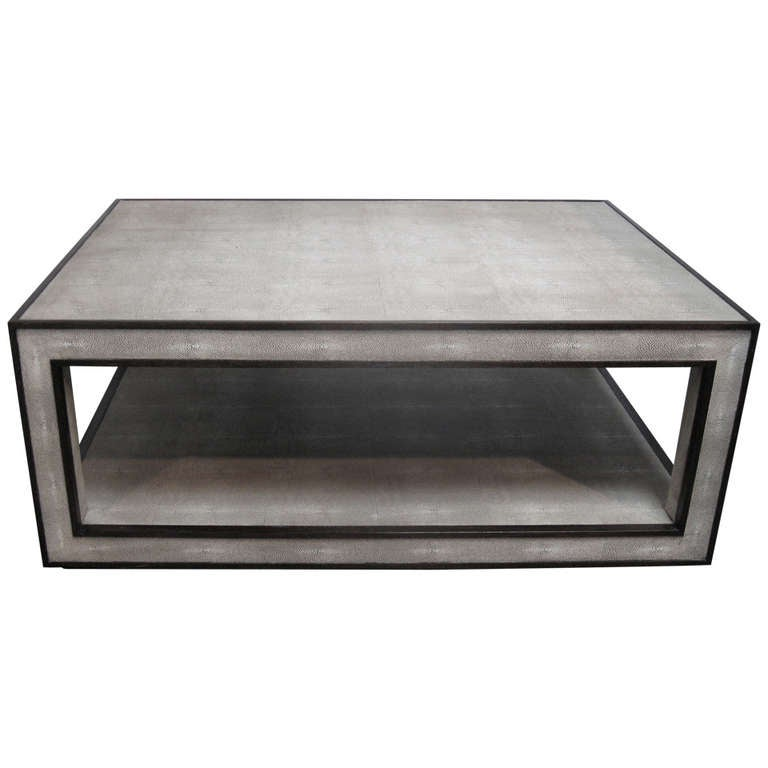 double tiered shagreen coffee table at 1stdibs