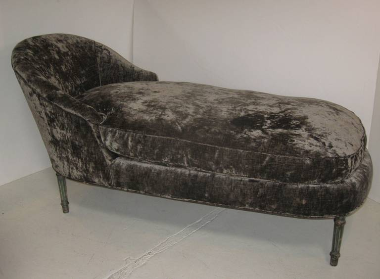 Louis xvi style chaise longue at 1stdibs - Chaise style louis xvi moderne ...