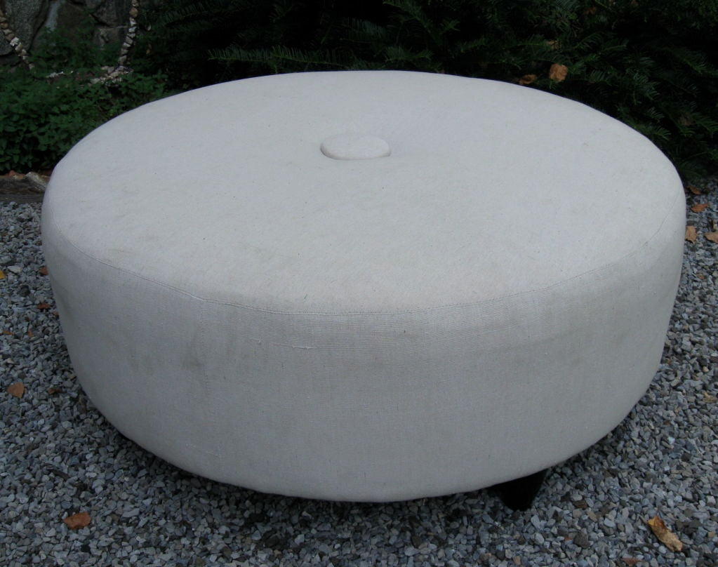 Crbogercom Large Circle Ottoman Tufted Storage