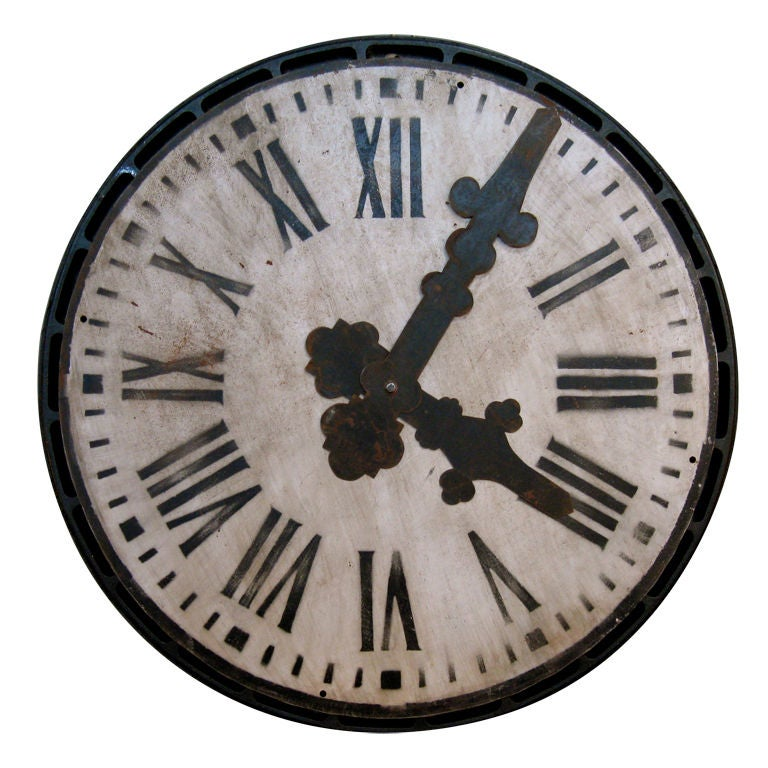 Large Tole Clock Face At 1stdibs