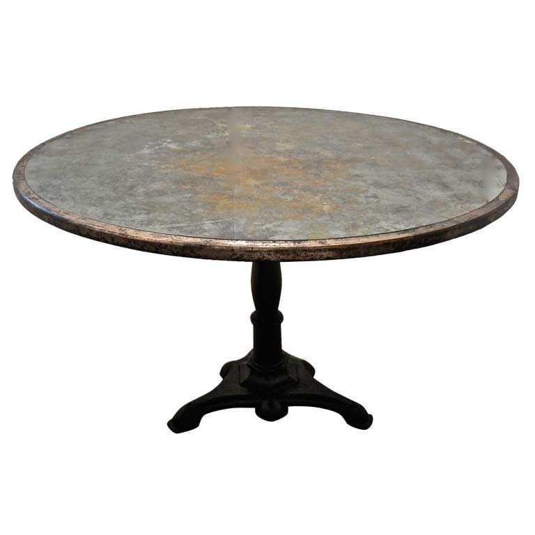 Dining Table Mirrored Round Dining Table