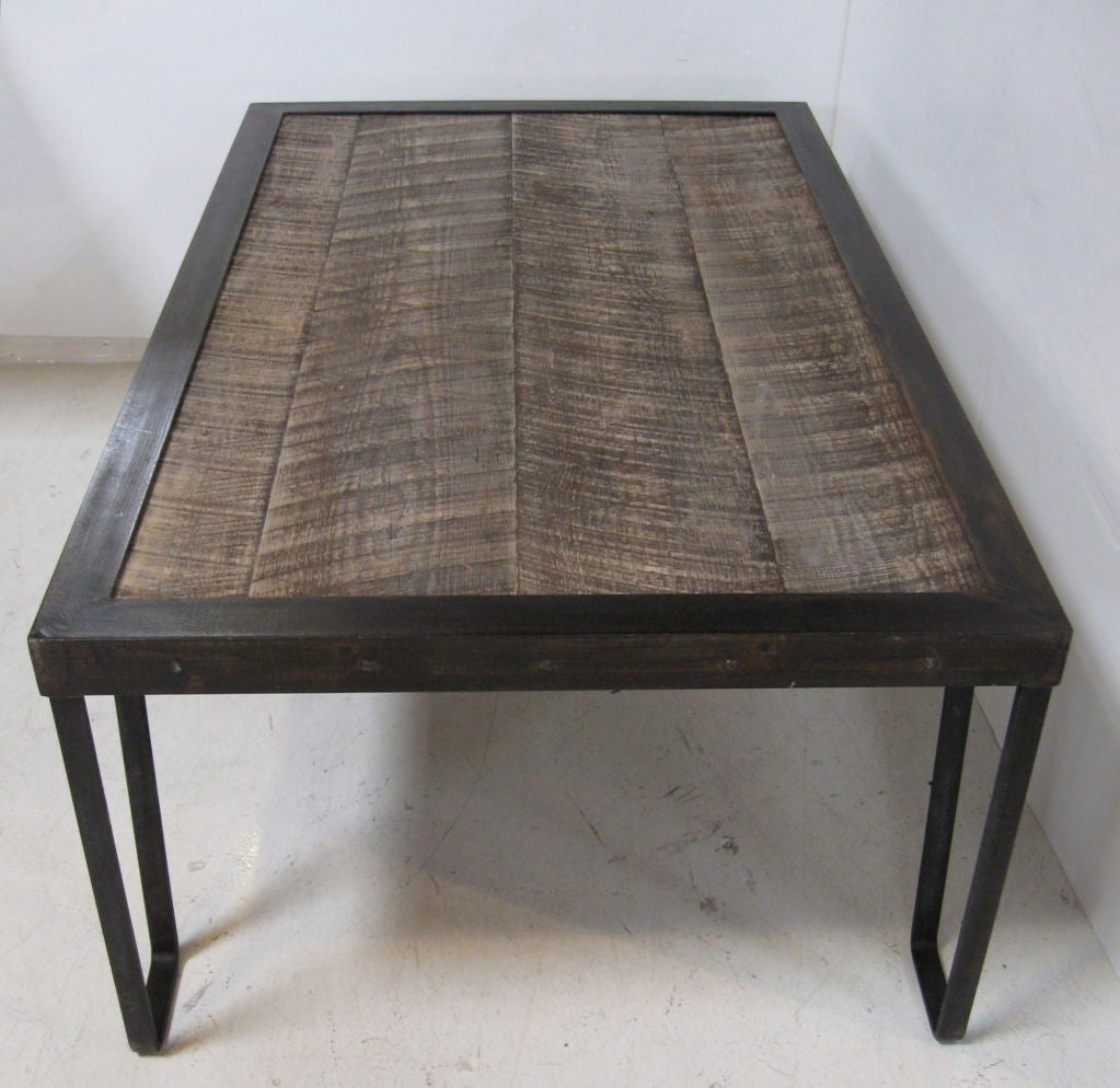 Rustic Wood And Iron Coffee Table At 1stdibs
