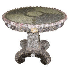 SEASHELL ENCRUSTED ROUND CENTER TABLE