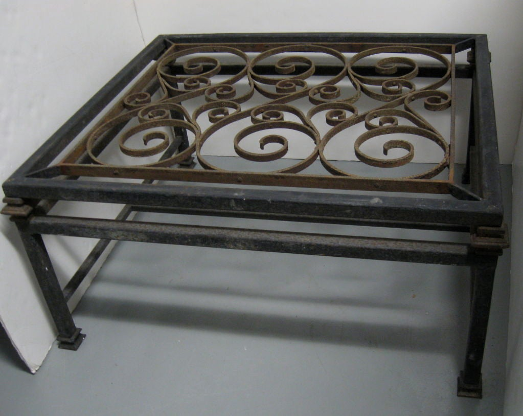 FRENCH WROUGHT IRON COFFEE TABLE At 1stdibs