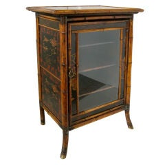 ENGLISH BAMBOO CABINET / BOOKCASE
