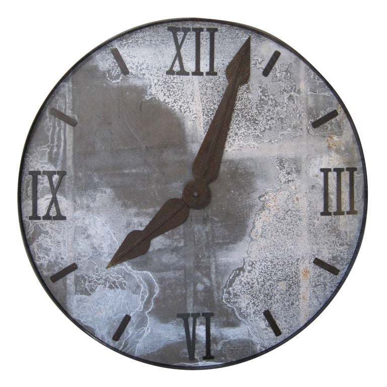 Large Industrial Clock Face At 1stdibs