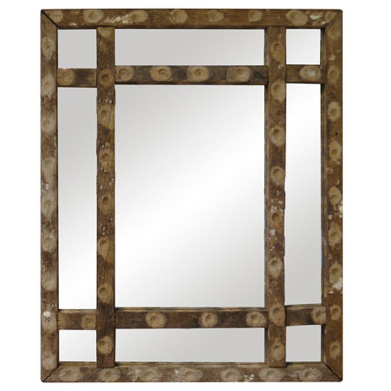 French Oyster Stick Mirror At 1stdibs