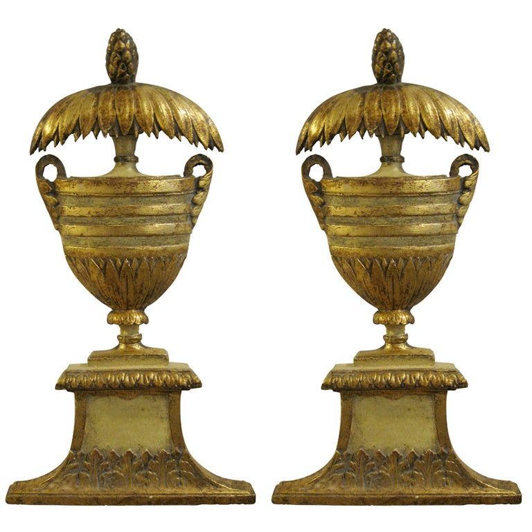 Pair Of Italian Wood And Gilt Wall Appliques At 1stdibs