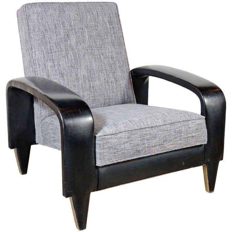 Rare Art Deco Italian Club Chair from an Italian Cruise Ship