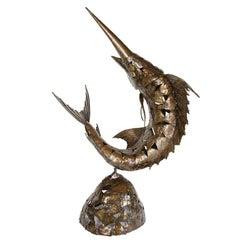 Mid-Century Modernist Brutalist Marlin Sculpture