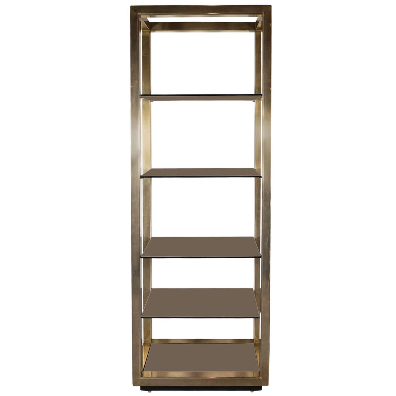 exceptional mid century modernist brass etagere by mastercraft for sale at 1stdibs. Black Bedroom Furniture Sets. Home Design Ideas