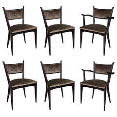 Set of Six Mid-Century Modernist Dining Chairs by Edmond Spence