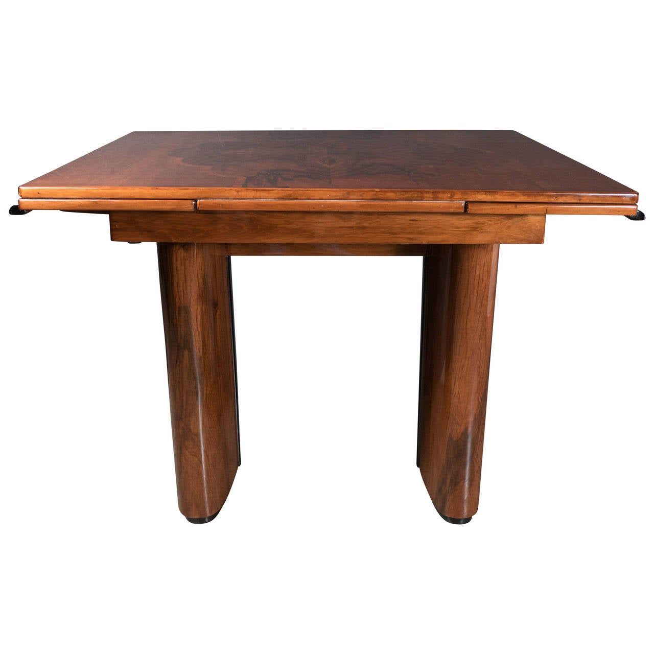 Art deco extension dining table in mahogany for sale at 1stdibs for Dining room tables with extensions