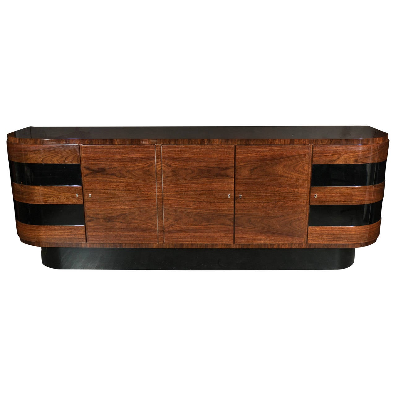art deco sideboard by deutsche mobel in bookmatched