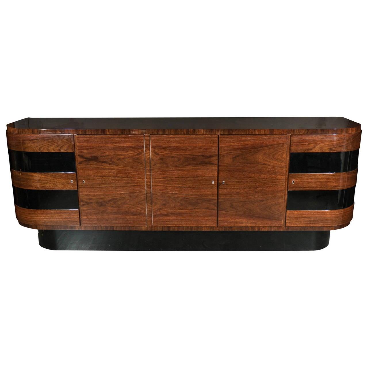 Art Deco Sideboard By Deutsche Mobel In Bookmatched Rosewood