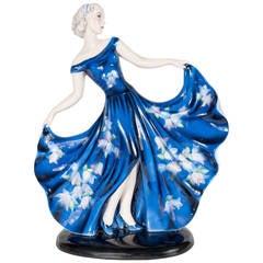 Ceramic Girl by Stephan Dakon for Goldscheider Named Dame Lydia